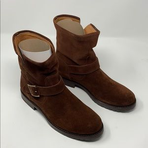 Frye Shoes - NEW FRYE Natalie Short Engineer Brown Boots Size 8